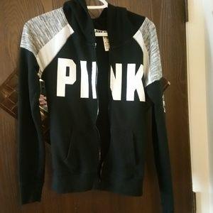 Victoria's Secret PINK Zip-Up hoodie READ